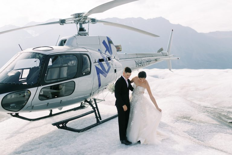Alaska Glacier Wedding Helicopter Tour